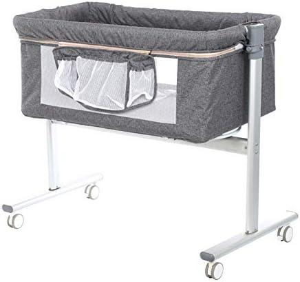 おむつ交換台 ベビーベッド用ベビーベッド、ベビーベッド用ベビーベッド、調整可能なポータブルトラベルバシネットベビーベッド、新生児用保育園オーガナイザー (色 : Gray)