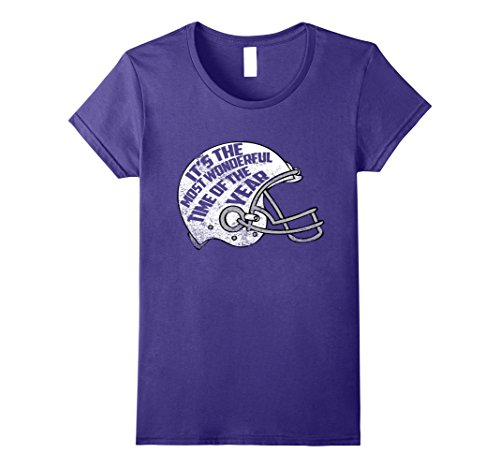 Wonderful Time of The Year Football Shirt Large Purple (Time Football Jersey)