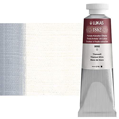 LUKAS 1862 Artists' Oil Paint Master Quality German Engineered Oil-Based Art Paints - 37ml Single Tubes - [Titanium White]