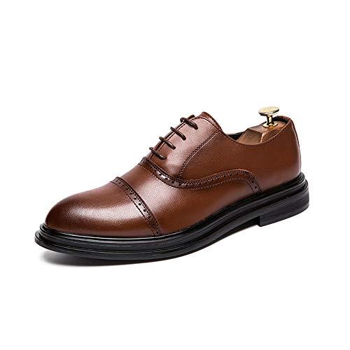 Marron 39 EU CHENDX Chaussures, Chaussures à la Mode pour Hommes Confortables et décontractées Oxford Décontracté Classique Individualité (Couleur   Marron, Taille   39 EU)