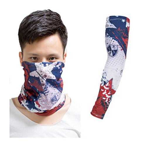 Actual Tattoo Arm and Scarf Sleeve Men and Women Protection Breathable Outdoor Basketball Sports Wrist Sunscreen Keep Warm Fishing Gloves