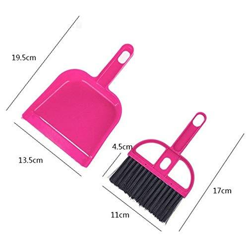 Broom Brush Dustpan Set, Mini 2 in 1 Whisk Broom + Dustpan Brush Tiny Pet Waste Shovels Cleaning Tools for Pets Office Home Desk Computer Keyboard Kitchen Car ()