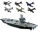world war two planes - Motormax Giant 31 inch Aircraft Carrier with 6 World War II Planes
