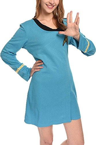 Wecos Women Halloween Dress Tos Costume Duty Uniform, Blue, XX-Large]()