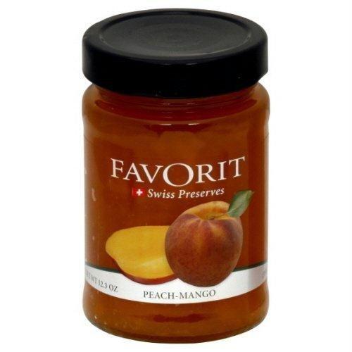 - Favorit Swiss Preserves Mango Peach -- 12.3 oz by Favorit Swiss Preserves