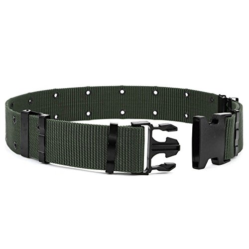 (OLEADER Military Pistol Belt Quick Release Combat Belt for Outdoor Hunting Army Survival, Green)