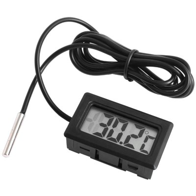 tongshi Mini termómetro Digital LCD de alta temperatura con sonda Celsius