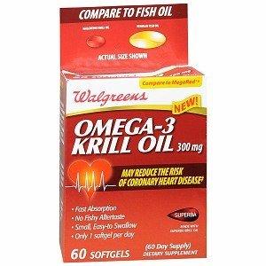 - Walgreens Omega-3 Krill Oil 300mg Softgels 60 ea
