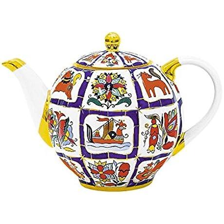 Lomonosov Imperial Porcelain Teapot 20 Oz 600 Ml 3 Cups Russian Lubok