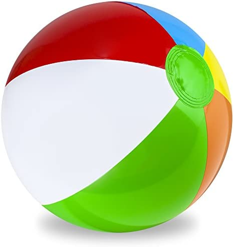 16-inch Sol Coastal Classic 6-Color Inflatable Beach Balls SBEA-102 Pack of 12 Pack of 12