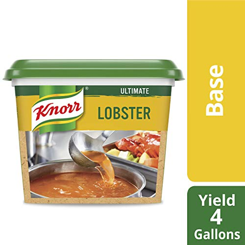 Knorr Professional Ultimate Lobster Stock Base Gluten Free, No Artificial Flavors or Preservatives, No added MSG, Dairy Free, 1 lb, Pack of 6