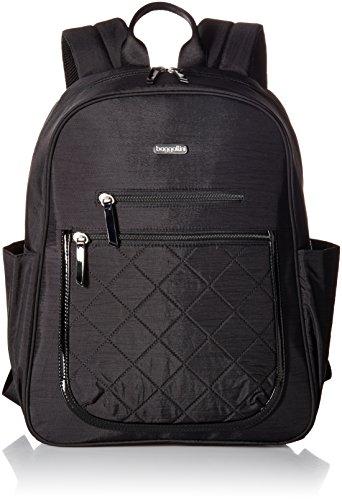 Pocket Laptop Backpack Backpack, Black Quilt, One Size