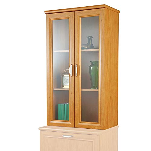 Realspace Magellan Collection 2-Shelf Hutch with Doors, Honey Maple