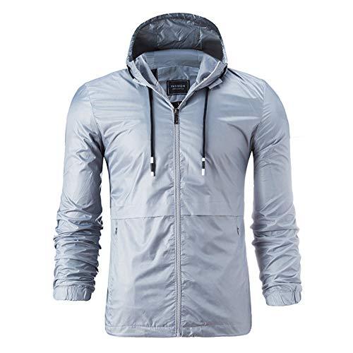 Winter Autumn Gray Outwear Stripe Men's Blouse Solid Knit Sleeve Long Jacket TEBAISE Coat qBECy