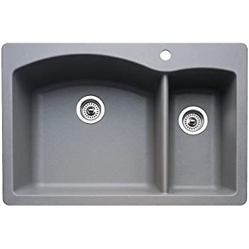 blanco diamond undermount kitchen sink blanco 440214 1 3 4 bowl kitchen sink metallic 7916