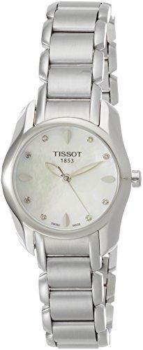 [해외] [T 소] TISSOT 손목시계 T-웨이브 쿼츠 화이트 마더 오브 펄 문자판 다이아몬드 부착 브레스서머 T0232101111600 레이디스 [정규 수입품]