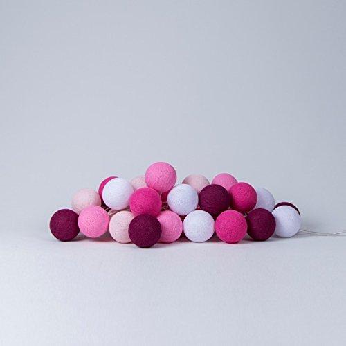 Cotton Ball Lights Pink 50 Lichterkette, Baumwolle, Mehrfarbig 716855431776