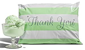 10x13 Pack of 100 Mint Chocolate Chip Poly Mailers a la mode