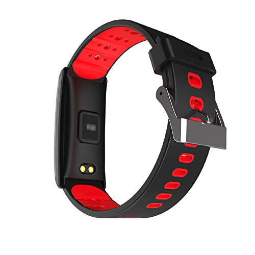 X20 Fitness Tracker Watch IP68 Waterproof Smart Bracelet Wristband with Heart Rate Blood Pressure Monitor Bluetooth 4.0 with Sleep Monitor Step Tracker for IOS Android Smartphones (Red)