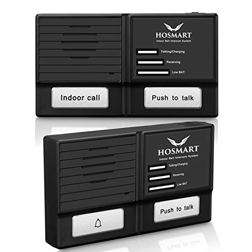 Person System Intercom (Hosmart 1500FT Wireless Doorbell and Intercom System-Weather/Water Proof)