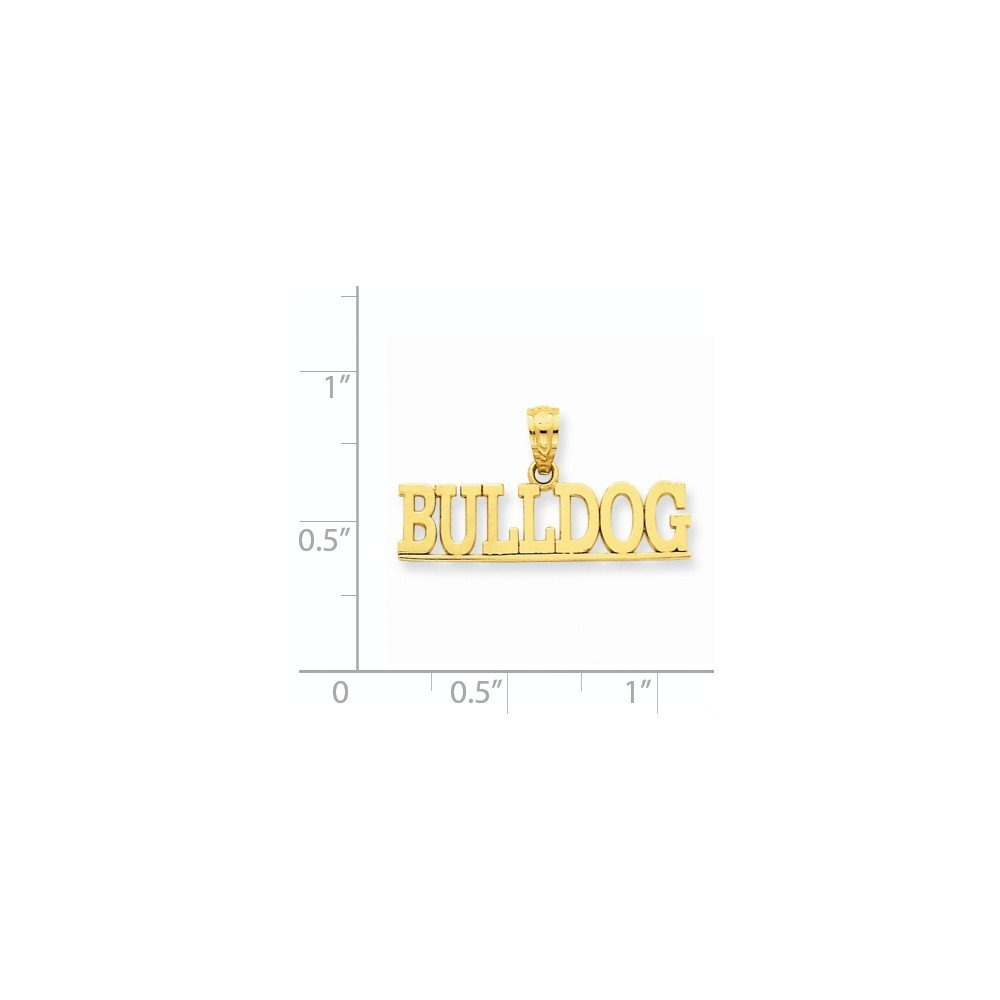 Bull Dog Pendant Dog Charm Fashion 14K Yellow Gold