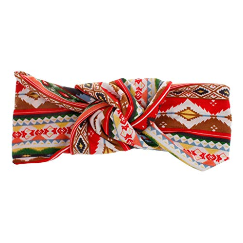 UROSA Women Fashion Headband Boho Print Hairband Knot Tie Headwrap Hair Band Hoop