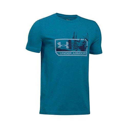 (Under Armour Boys' Whitetail Pill T-Shirt,Bayou Blue Medium He (954)/Midnight Navy, Youth X-Large)