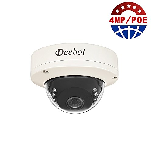 Deebol HDB-IP4411E 4MP H.265 HD PoE Network Dome Security Camera With 3.6mm Angle Lens ONVIF 2.4, QR Code ,12x IR...