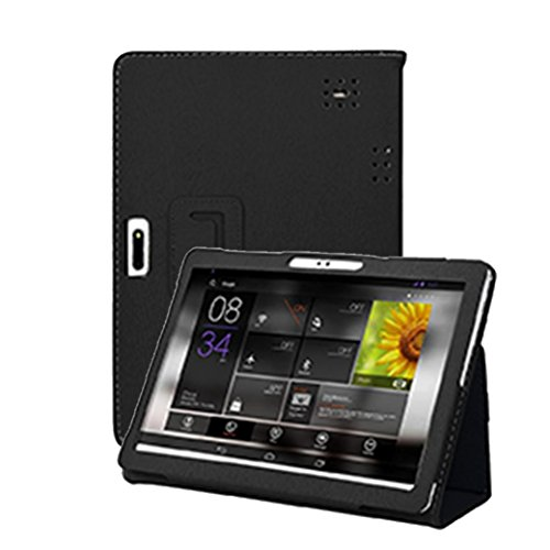 MChoice Universal Folio Leather Stand Cover Case for 10 10.1 Inch Android Tablet PC (Black)