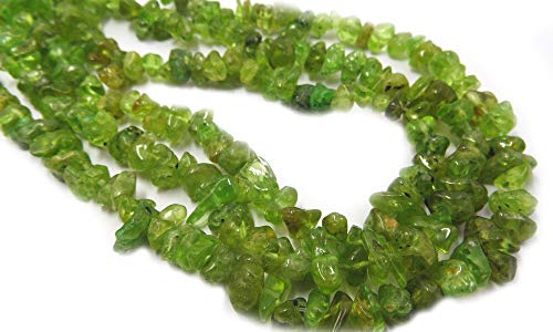 TheTasteJewelry Natural Peridot AB Grade Chips 5-8mm 16'' Jewelry Making Necklace Bracelet