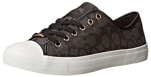 Coach Womens Empire Outline Sneaker Black-Smoke/Black Size 6