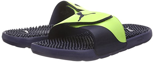 peacoat Piscine Starcat Puma Adulte Plage De Tpr Chaussures safety Bleu Blau Yellow amp; Mixte 01 qYaqPU