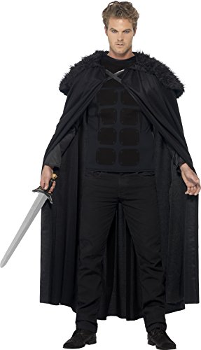 Authentic Snow White Costumes (Smiffy's Men's Dark Barbarian Costume, Top and Cape, Tales of Old England, Serious Fun, Size M, 43721)