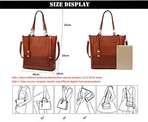 Lady tas zwart olie tas lederen Pu ontwerp Messenger holle Wax Hr5FHxqwv