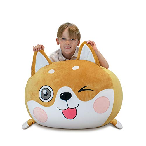 youngeyee Bean Bag Chair Kids, Stuffed Animal Bean Bag Storage, Velvet Extra Soft, Cover Only, Kid Room Decorations, Best Gift for Children
