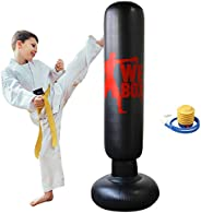 Inflatable Punching Bag, Punching Bag for Kids/Adult, Boxing Punching Bag, Freestanding Boxing Bag, Martial Ar
