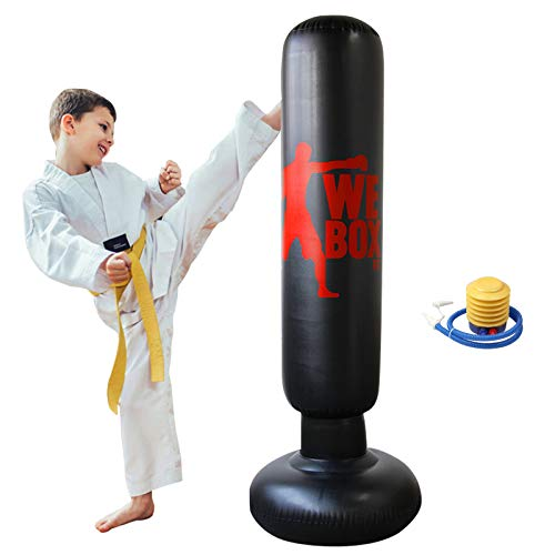 Inflatable Punching Bag, Punching Bag for Kids/Adult, Boxing Punching Bag, Freestanding Boxing Bag, Martial Arts…
