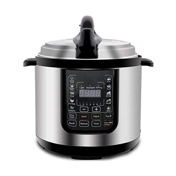 ZENY 6 Qt 7-in-1 Multi- Use Programmable Pressure Cooker Stainless Steel Electric Pressure Cooker 1000W w/LED Display… 5