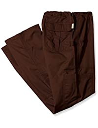 Koi Mens Big-Tall James Elastic-Waist Scrub Pants with Zip Fly and Drawstring Waist
