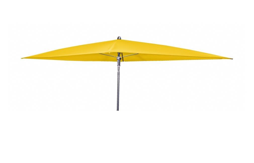 Doppler Absolut wasserdichter Gartenschirm Waterproof 225x120 ohne Volant, UV-Schutz 80, Farbe gelb