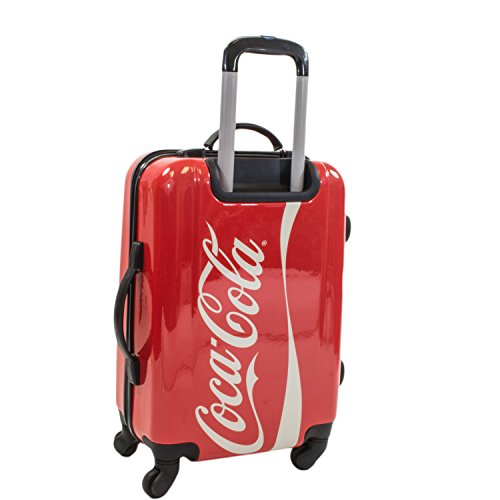 Coca Cola 21 Inch Spinner Rolling Luggage Suitcase Carry-On Luggage