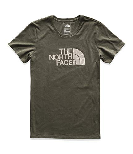 The North Face Women's Short Sleeve Half Dome Tee, New Taupe Green/Peyote Beige Multi, Size M