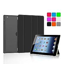 iPad Case Cover Bfun Silicone Magnetic Auto Wake Up/Sleep Ultra Slim Lightweight Four-fold iPad Stand Shell Protector for Apple iPad 2 / iPad 3/ iPad 4