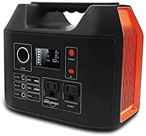 Meterk Portable Power Station, 300Wh Emergency Solar Generator with 110V AC Outlet 2 DC Ports 3 USB Ports, Power Supply with Flashlight Outdoor Advanture Camping Travel Hunting(Without Solar Panel) 9