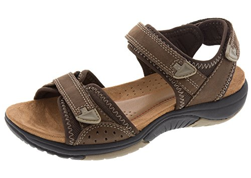 Rockport Women's Franklin Three Strap Sport Sandal, Brown, 6.5 M US