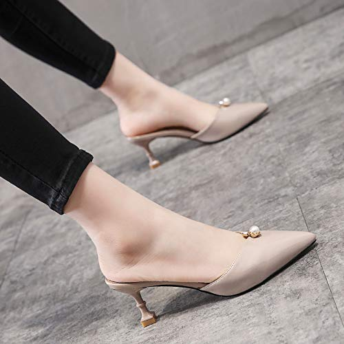 Color Heels Small Wear 6Cm Sexy Slippers Sharp And Thin High Slippers Pointed KPHY Seven Cool Thirty Shoes Heel Naked Word In Fashion A Summer znwg0