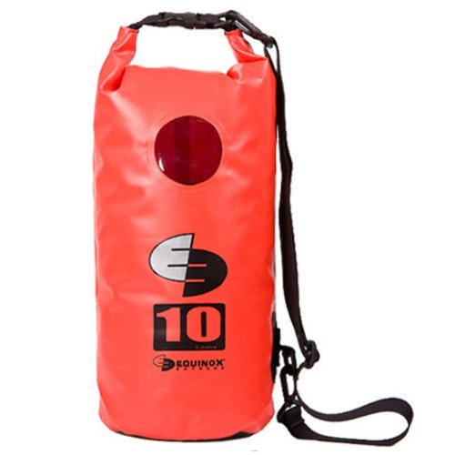 10L 10 Liter Waterproof Dry Bag for Kayaking, Rafting, Canoeing, Fishing, Camping, Hiking, and More. Red by Equinox Extreme
