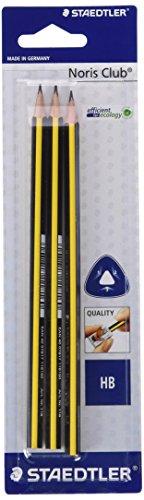 Da-Pack von 3Stifte graphit dreieckig Noris Club, Mine HB STAEDTLER 118bk3