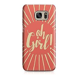 Samsung S7 Case oh Girl Sleek Design Durable Samsung S7 Cover Wrap Around