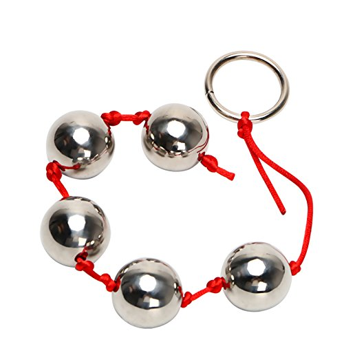 Five Metal Anal Balls Butt Vaginal Plug Stainless Steel Sex Toys for Woman Erotic Ring Handheld Anal Bead Ad
